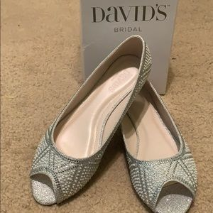 David's Bridal Essie flats